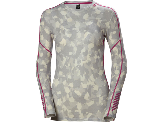Helly Hansen Lifa Graphic Sweat Mérinos Col ras-du-cou Femme, winter camo